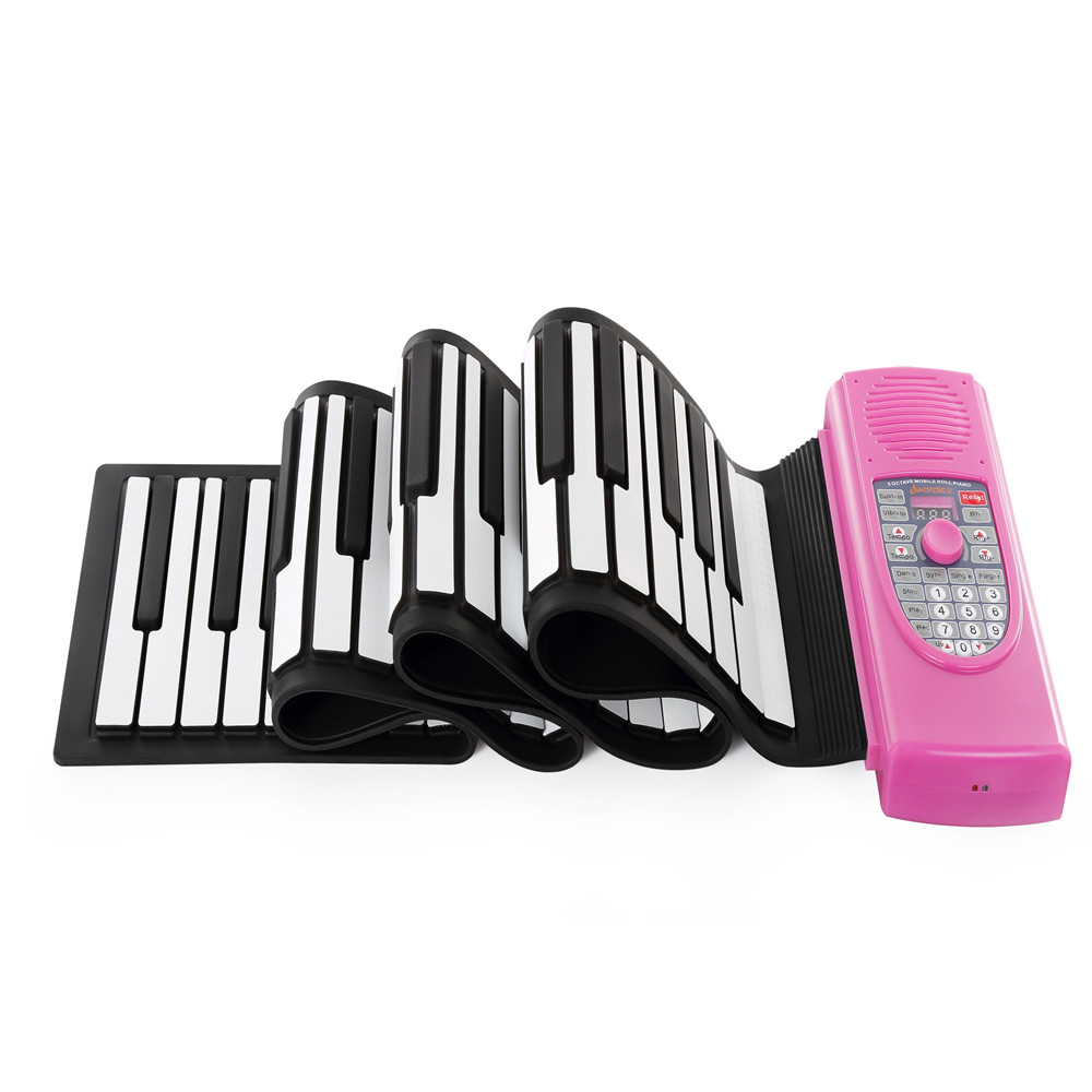 лучшая цена Iword S2090 Hand Roll Piano Flexible Roll Up 88 Keys Keyboard Portable Silicone Piano Toys Musical Instrument Kids Children Gift
