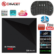 R-TV Boîte nimi Android 7.1 Smart TV Box RK3328 Quad Core USB3.0 + USB2.0 Wifi 4 K H.265 iptv Internet Streamer Boîte TV Set Top boîte