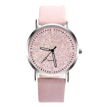 Fashion Crystal Women Watches Pink Female Starry Sky Dial Le