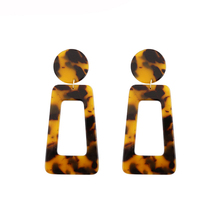 Handmade Leopard Earrings for Women Geometry Rectangle Resin Earring Tortoiseshell Statement acrylic Fashion Jewelry