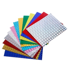Holographic Adhesive Film Flash Tape For Lure Making Fly Tying Materail 7cmx10cm