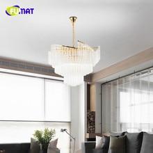 Фумат нордический стиль Кристалл K9 Нержавеющая сталь светодиодный подвесной светильник роскошный креативный минималистичный светильник подвесные светильники
