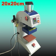 Pneumatic heat press machine Sublimation Heat Transfer 20x20cm CE passed 110V or 220V цена и фото