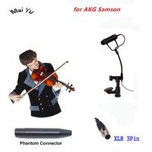 أداة مهنية ميكروفون كمان Mandolin فيولا Mikrofone ل AKG Samson نظام لاسلكي مرسل صغير XLR 3Pin
