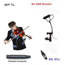 Professionele Instrument Viool Microfoon Mandoline Altviool Mikrofone voor AKG Samson Draadloze Systeem Zender Mini XLR 3Pin