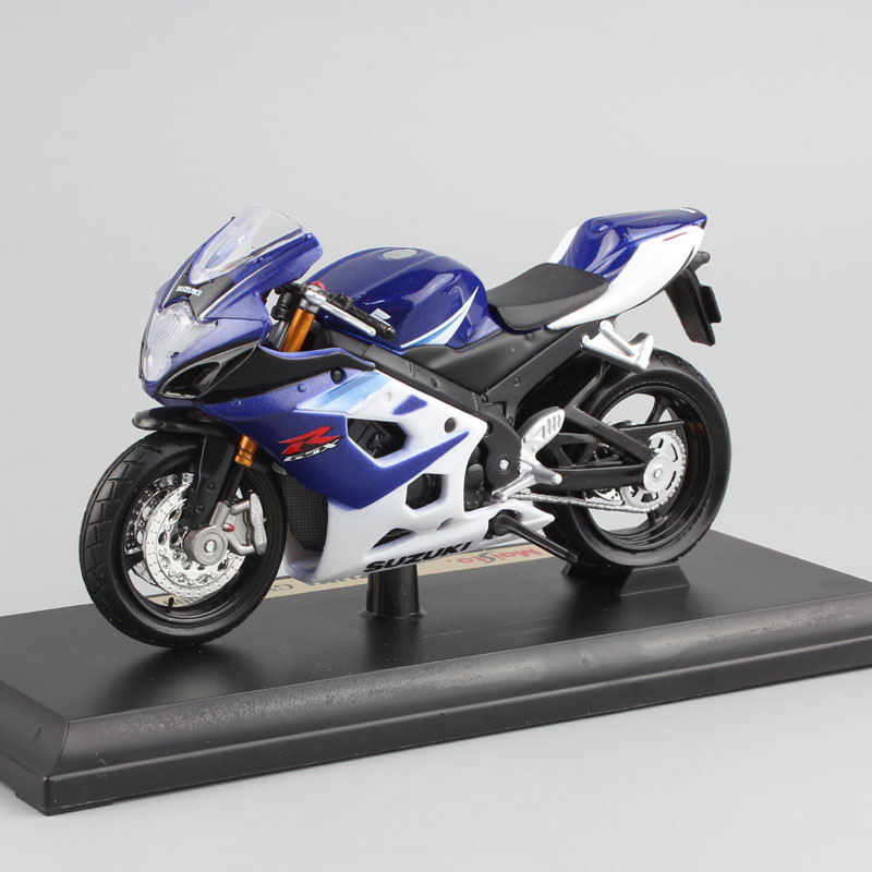 1:18 Scale Children Metal Diecast Motorcycle Model Racing SUZUKI GSX-R 1000 Moto Sport Cars Free Wheels Toys Collection For Boys