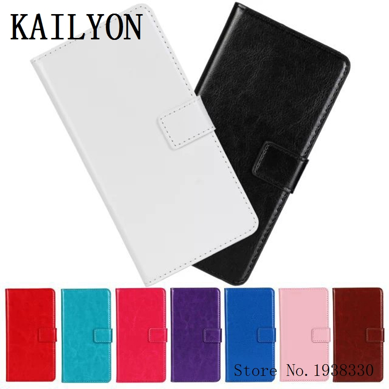 KAILYON For LG Optimus L9 II D605 Luxury Leather Case Flip Wallet Stand Cover For LG Optimus L9 II Phone Bag Cases With Card Hol