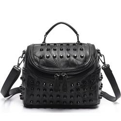 2017 Luxury Women Genuine Leather Bag Sheepskin Messenger Bags Handbags Famous Brands Designer Female Handbag Shoulder Bag Sac
