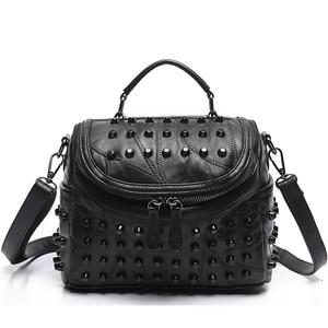 Image 1 - 2019 luxus Frauen Aus Echtem Leder Tasche Schaffell Messenger Taschen Handtaschen Berühmte Marken Designer Weiblichen Handtasche Schulter Tasche Sac