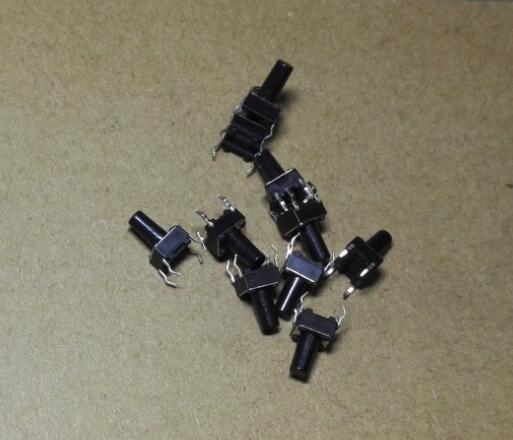 100 шт. 6x6x10 мм 6x6x10 мм тактовые переключатели тактильный переключатель микропереключатель кнопочный транзистор