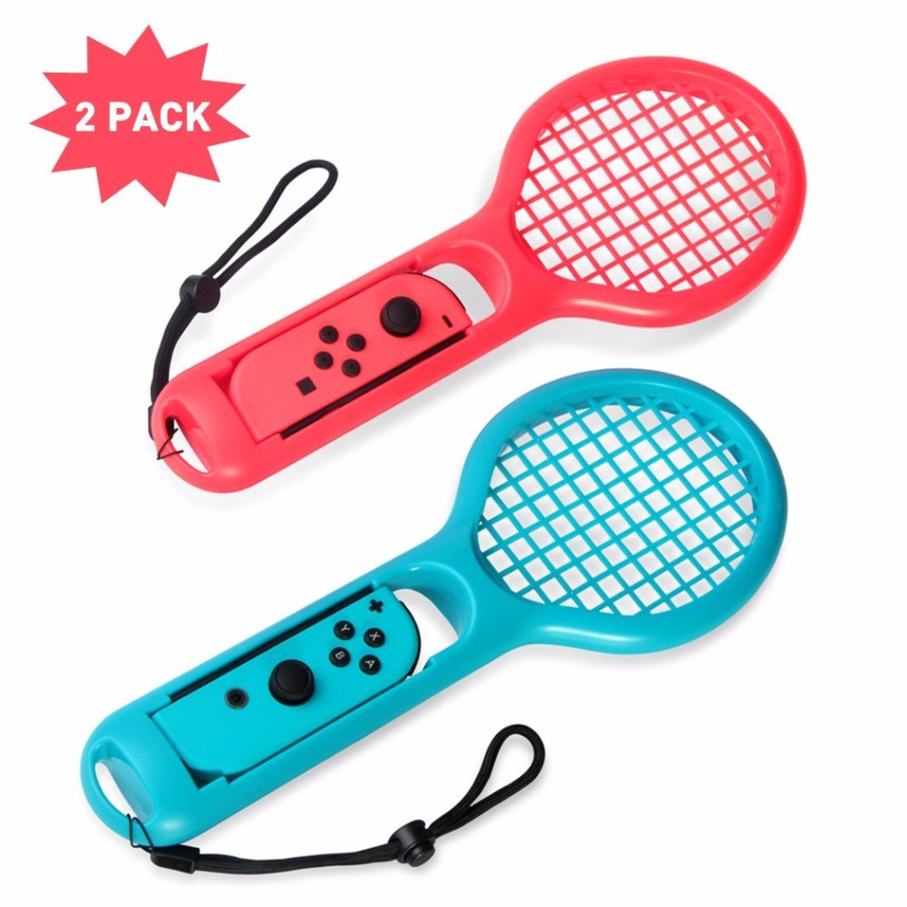 Tennis Racket Handle Holder for Nintend Switch Joy-con 1 Pair Grip for Switch Joy-con Controllers Fit for N-Switch Tennis GamesTennis Racket Handle Holder for Nintend Switch Joy-con 1 Pair Grip for Switch Joy-con Controllers Fit for N-Switch Tennis Games