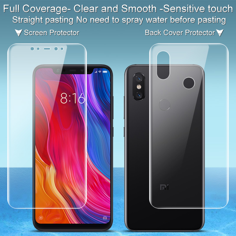 Imak Hydrogel Film For Xiaomi Mi 8 Screen Protector Full Cover Front