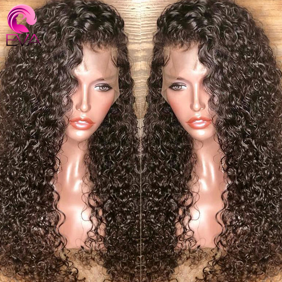 Eva Curly 360 Lace Frontal Wig Pre Plucked With Baby Hair 250% Density Lace Front Human Hair Wigs For Women Brazilian Remy Hair