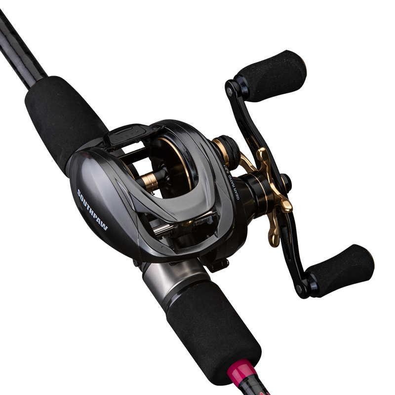 AI-SHOUYU New Baitcasting Reel SOUTHPAW Max Drag 12.5KG 10+1BB 6.3:1 with Matel Handle Bait Casting Fishing Reel For Big Fish