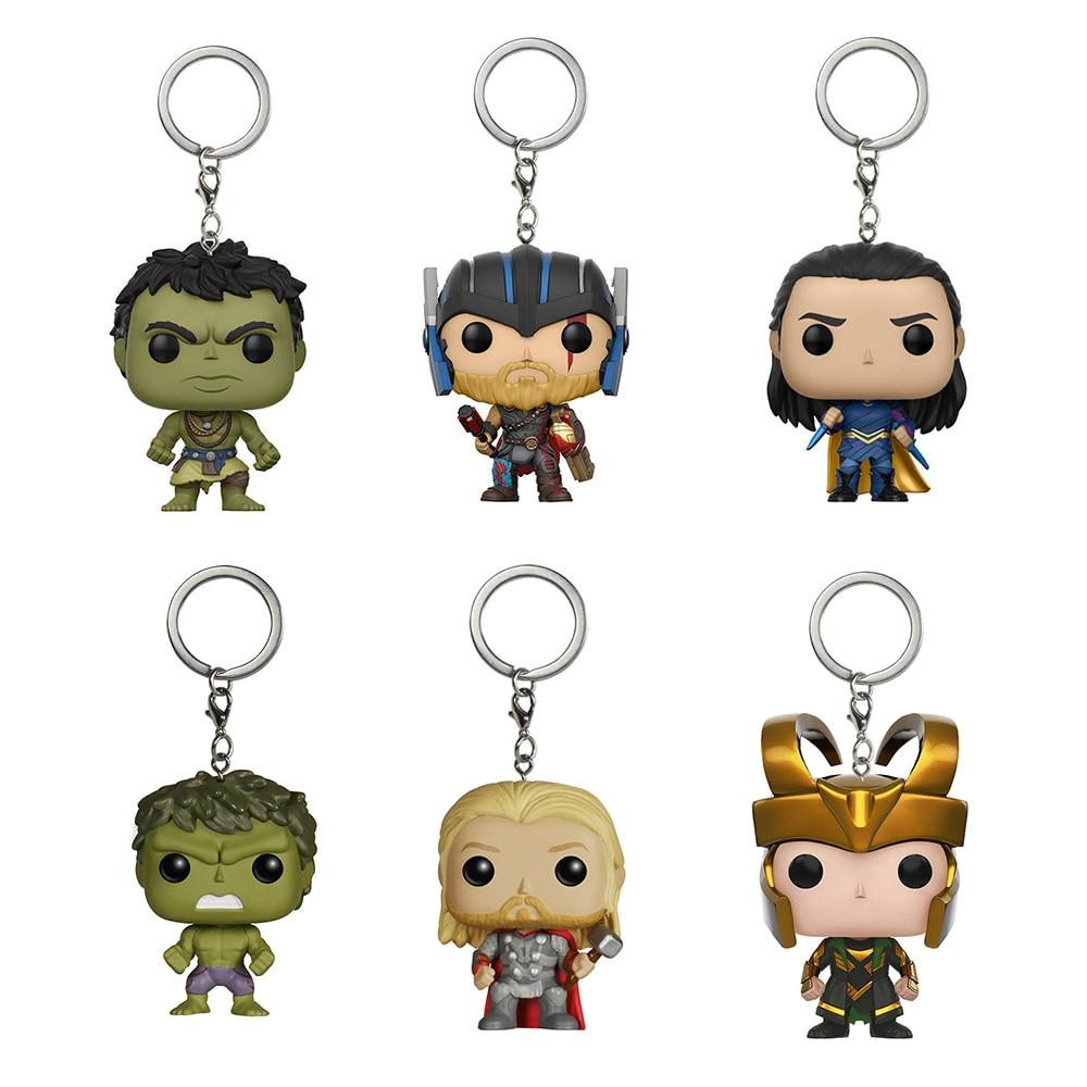 Funko Pop Keychains Thor Ragnarok Key Protector Thor Hulk Loki 6 Styles Key Protector for Women Bag Pendant Fans Gifts SP1629 цена и фото