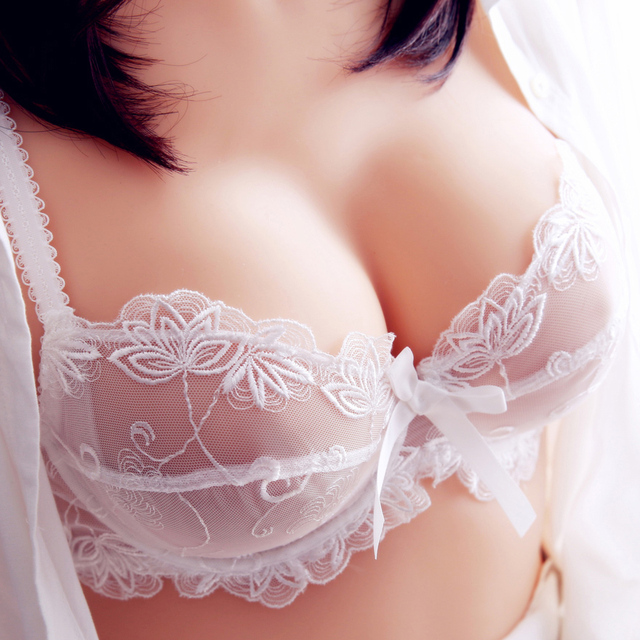 Shitagi Sexy Bra & Brief Sets Ultra-Thin Lace Bra Flower Embroidery Women Underwear Set Transparent ABCD Cup Blue Black White