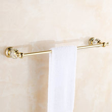 Vidric штанги для полотенец латунный кристалл золотой настенный один вешалка для полотенец Держатель Роскошная вешалка для полотенец туалет и ванная комната Acce