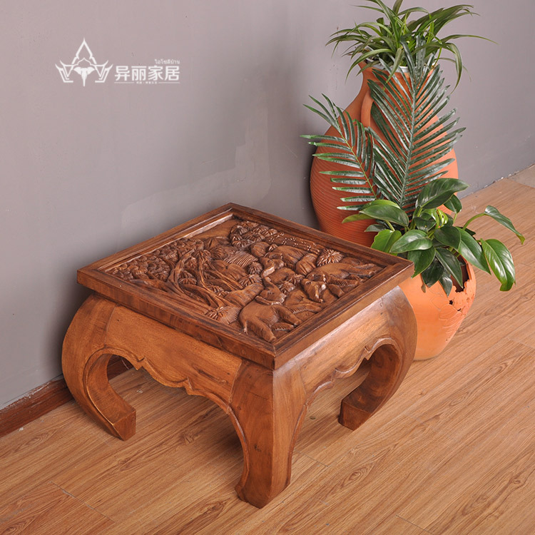 ... Thailand Wood Carving Tea Table Sofa Table Home ...