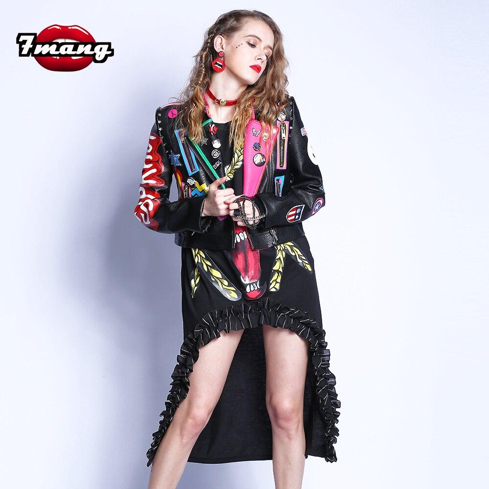 Plus Size 2017 Fashion Autumn Women Punk Heavy Metal