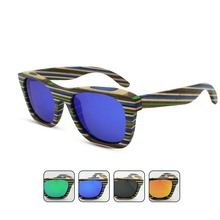 Multi Color Skateboard Wooden TAC Polarized Outdoor Cool Fashion Sunglasses Unisex Designs