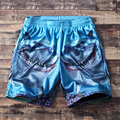 Free shipping shorts casual all-match hiphop mesh beach plus size  Elastic Waist Knee Length short trousers