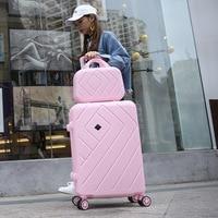 Runningtiger 14+20 22 24 26 inch ladies suitcase luggage couple luggage bag, ABS suitcase rolling luggage suitcase on wheels