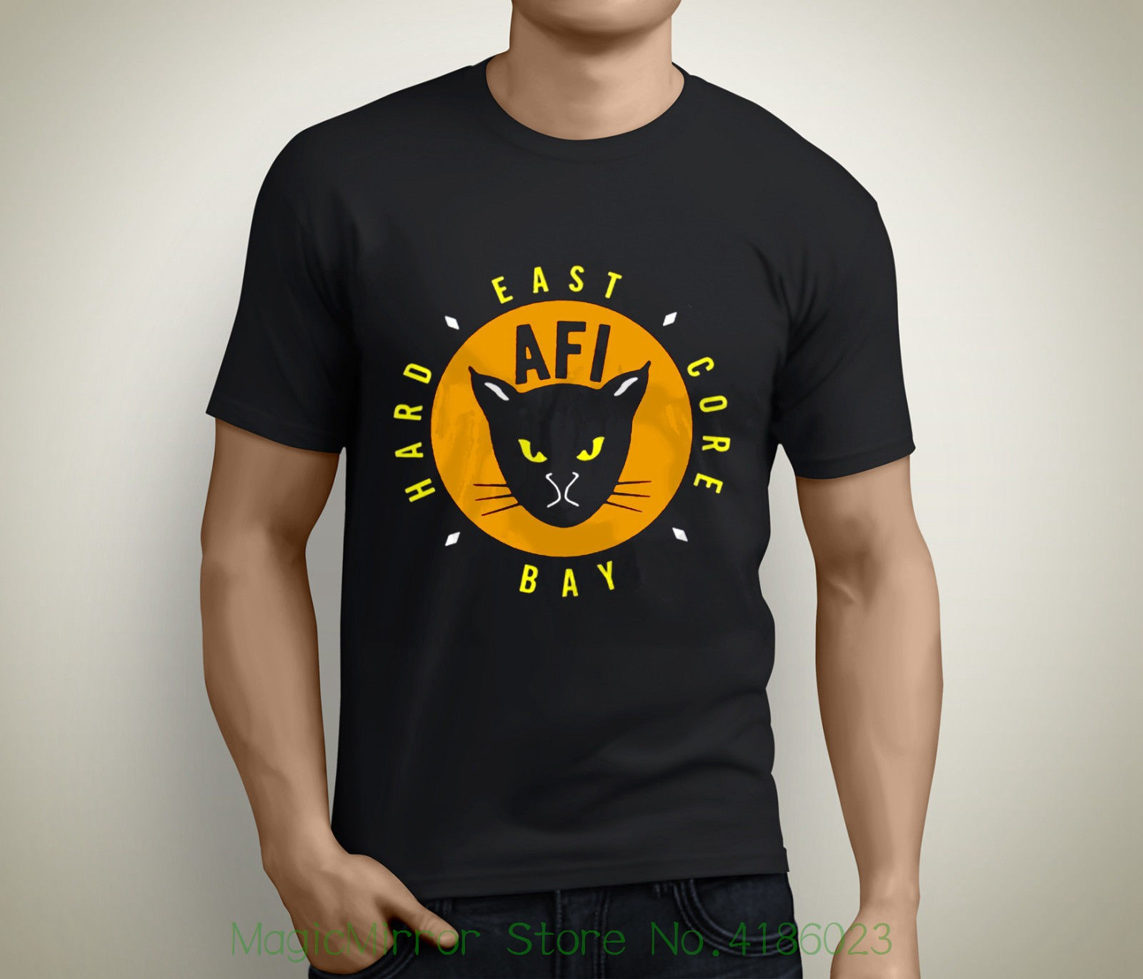 New Afi East Bay Kitty Rock Band Short Sleeve Mens Black T-shirt Size S To 5xl Printed Mens Men T Shirt