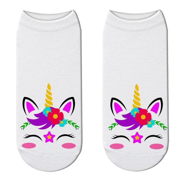 Unicorn Printed Summer Low Cut Women's Socks