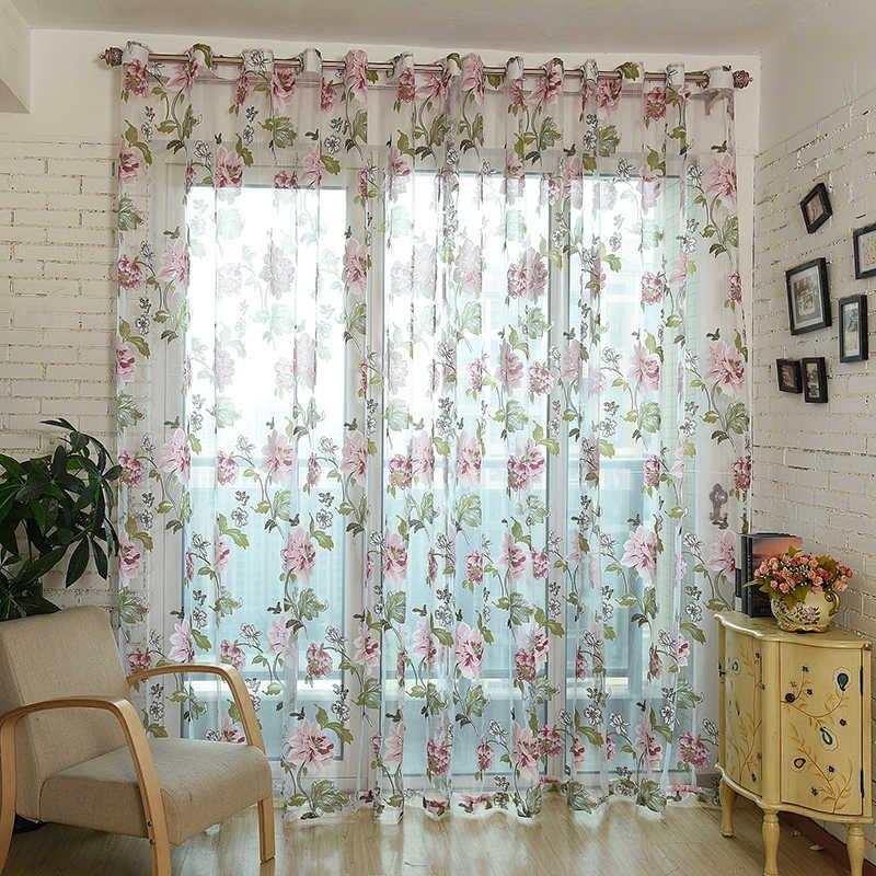 יוקרה אקארד Sheer וילונות לסלון חדר השינה מטבח טול עבור Windows וואל חוט וילונות פנל חלון טיפולים