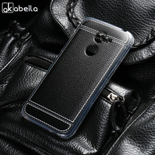 AKABEILA Luxury Lichee TPU Case Soft For Alcatel A3 5046 Plating Silicone Cover 5046D 5046X 5046Y Shell