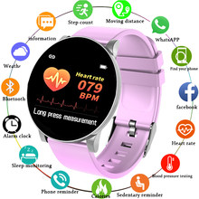 Nuovo Sport Impermeabile Intelligente Fascia Delle Donne Della Vigilanza Del Braccialetto Intelligente Bluetooth Monitor di Frequenza Cardiaca Fitness Tracker Smartwatch Cassa del Metallo(China)