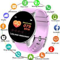 Nuevo reloj inteligente impermeable deportivo para mujer, pulsera inteligente, Bluetooth, Monitor de ritmo cardíaco, rastreador de Fitness, reloj inteligente, caja de Metal