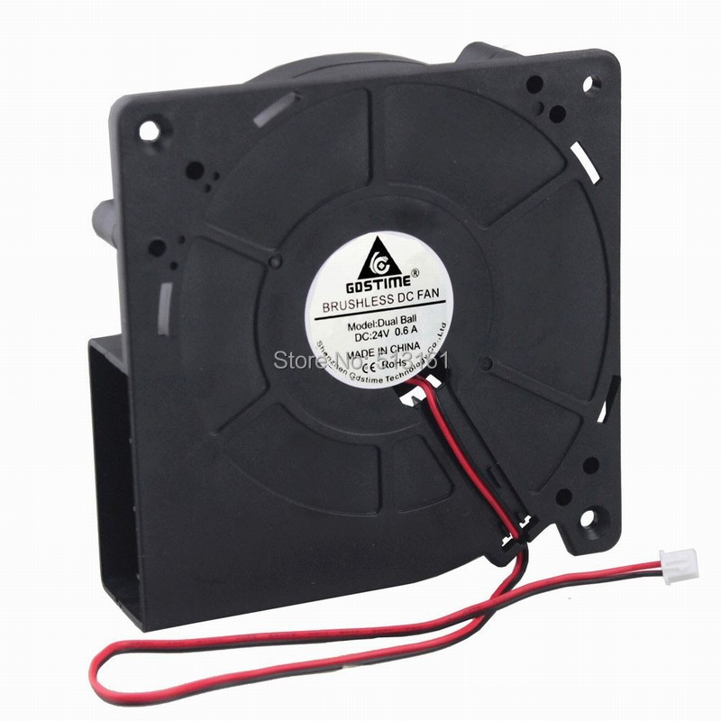 10 Pieces 12032 Ball DC Cooler Blower Fan 120x120X32mm Centrifugal 24V Fans For PC Computer in Fans Cooling from Computer Office