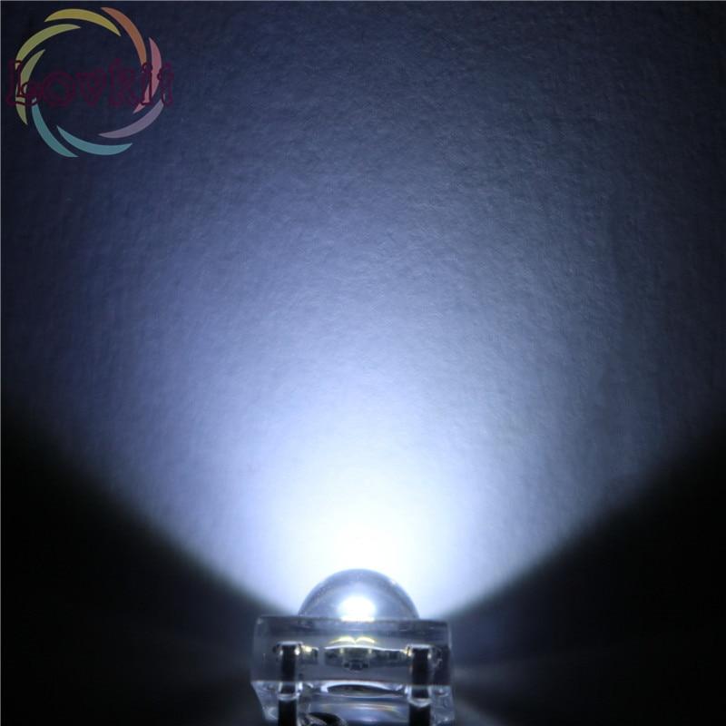 20pcs LED 5MM Piranha White Super Flux Leds 4 Pin Dome Wide Angle Super Bright Light Lamp For Car Light High Quality Hot
