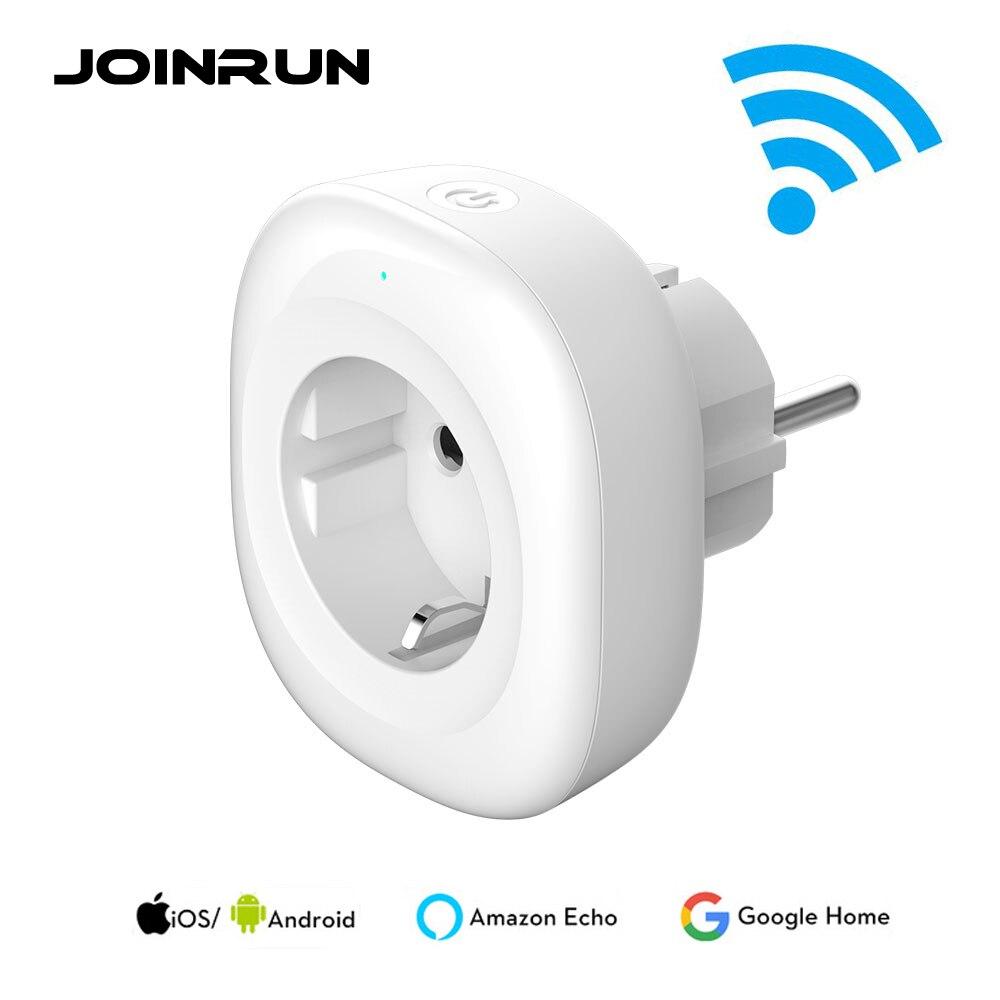 JOINRUN enchufe inteligente EU enchufe de alimentación Wifi Smart Plug aplicación móvil Control remoto salida USB funciona con Amazon Alexa Google Home