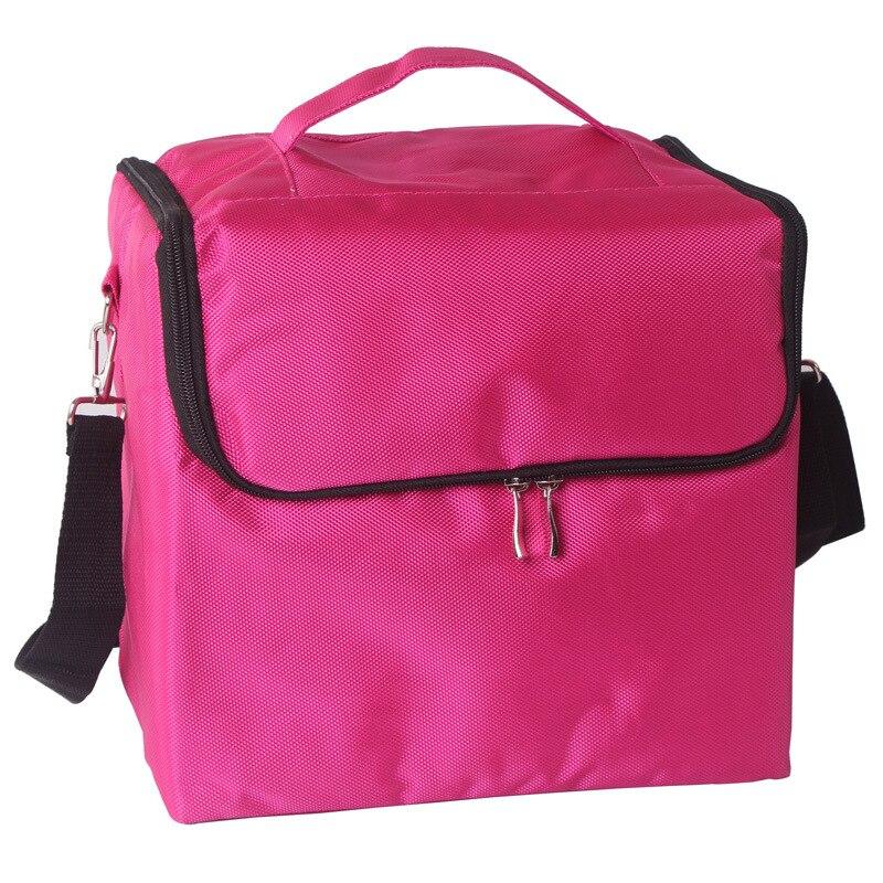 4 Colors Polyster Makeup Cosmetic Bag Kit Portable Make Up Women Makeup Organizer Bag Girls Hand Bag Track холодильник samsung rs4000 с двухконтурной системой twin cooling 569 л