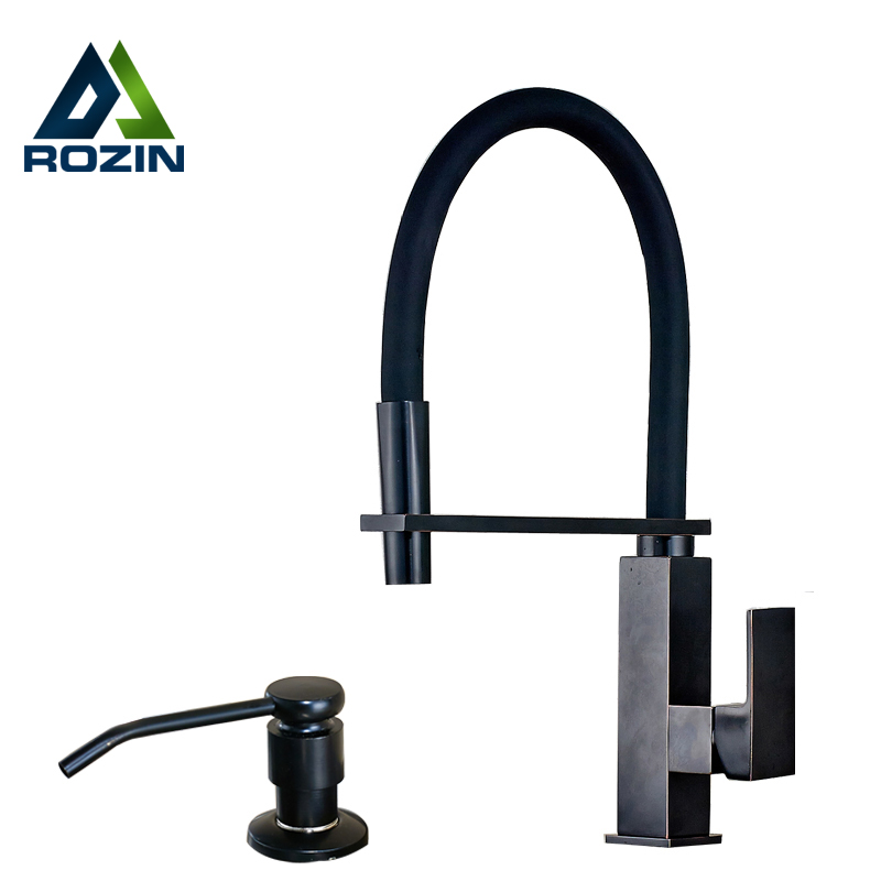 Best quality Single Lever Deck Mounted Kitchen Water Faucet with Kitchen Sink Soap Dispenser Oil Rubbed Bronze Hot and Cold Tap polished chrome deck mounted bathroom kitchen faucet tap single handle with brass soap dispenser