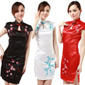 Updated Wolesale Elegant Retro Fashion Short Sleeve High Quality Mini Chinese Traditional S-2XL Cheongsam Dresses Hot Sale!