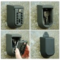 Combination Key Safe Wall Mounted with Rubber Case Key Storage Organizer Boxes Keys Organizer Boxes Small Metal Secret Safe Box