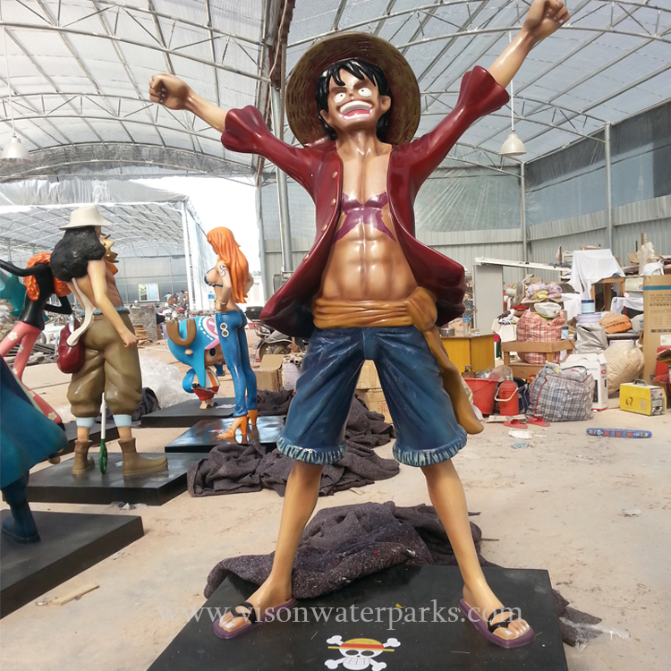 Customized Strong Resin Fiberglass Queen Of Pirate King Sculpture Combination For Water Amusement Park Vison Waterparks Fragrant Aroma
