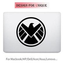 Агенты щит Тетрадь наклейка для ноутбука Стикеры для Apple MacBook Pro воздуха Retina 11 12 13 15 дюймов винил Mac ми поверхность книга кожи