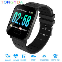 Get more info on the A6 Smart Watch Heart Rate Monitor Sport Fitness Tracker Blood Pressure Call Reminder Waterproof Men Watch for iOS Android Gift