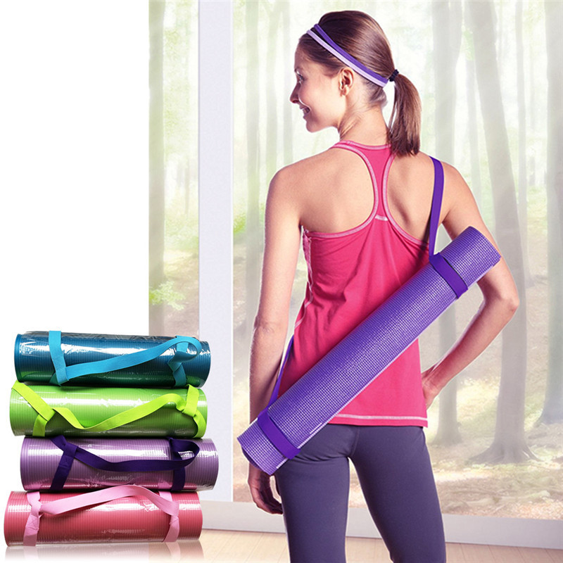 New Yoga Mat Sling Carrier Shoulder Carry Strap Belt Exercise Stretch Adjustable Fitness ...