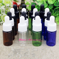 100pcs/lot 10ml PET Plastic Dropper Bottle w/ Pipette,Empty amber bottles with droppers for Essential Oil,plastic bottle contain