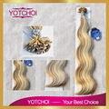 Yotchoi плоским наконечником наращивание волос 1 г/шт. 100 шт./компл. 4/613 # цвет объемная волна каретин предварительно таможенного волос наращивание волос