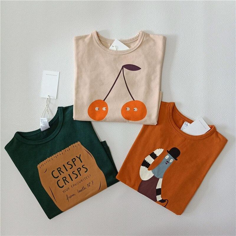 BOBOZONE 2018 Tc Cherry long-sleeve t-shirt for winter boys girls baby tops