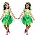 Цветок фея эльф костюмы красивая феерических платье продажа рианна косплей цветок девочек подружек невесты