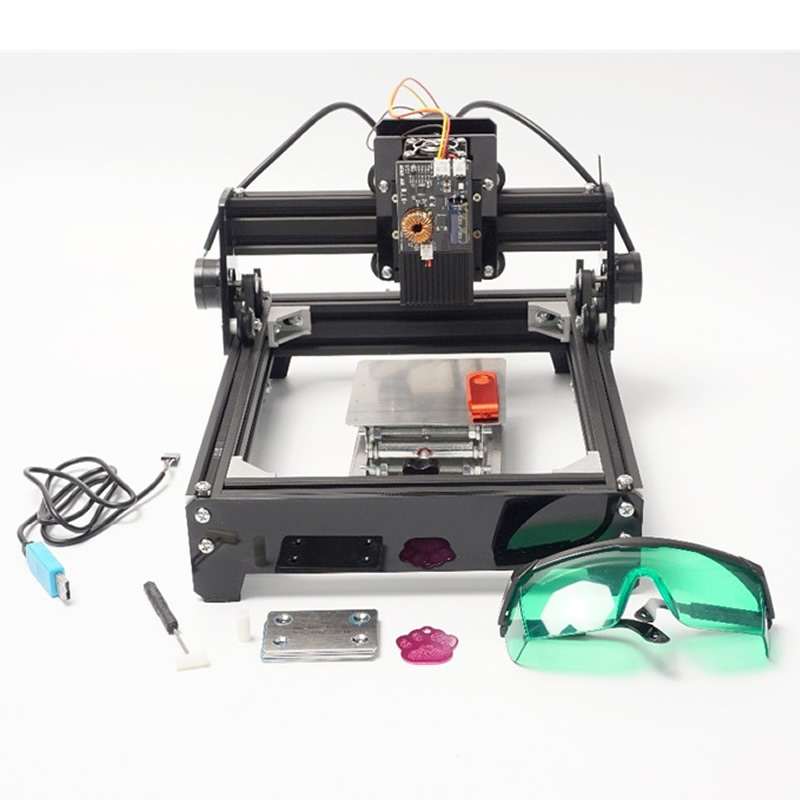 Mini Laser Marking Machine Metal CNC Laser Engraver 10W Small Laser Engraving Machine for Metal, Steel, Aluminum Marking laser head owx8060 owy8075 onp8170