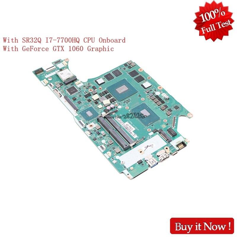 Nokotion C5PRH LA-E921P para acer depredador Helios 300 G3-571 MBDUMMY057 placa base de computadora portátil SR32Q I7-7700HQ CPU a bordo