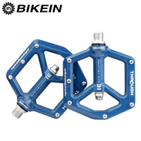 Outdoor Bike CNC Aluminum Pedal MTB Bicycle 9/16 Inch Flat Pedals Platform DU+Sealed Bearing 5 Colors Mountain Bike Accessories